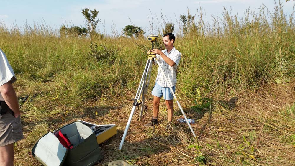 Surveying of building positions