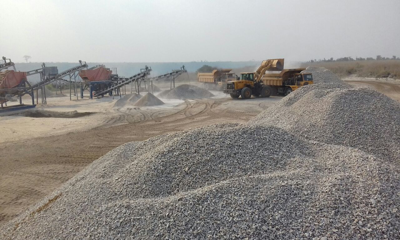 Stone crushing plant production